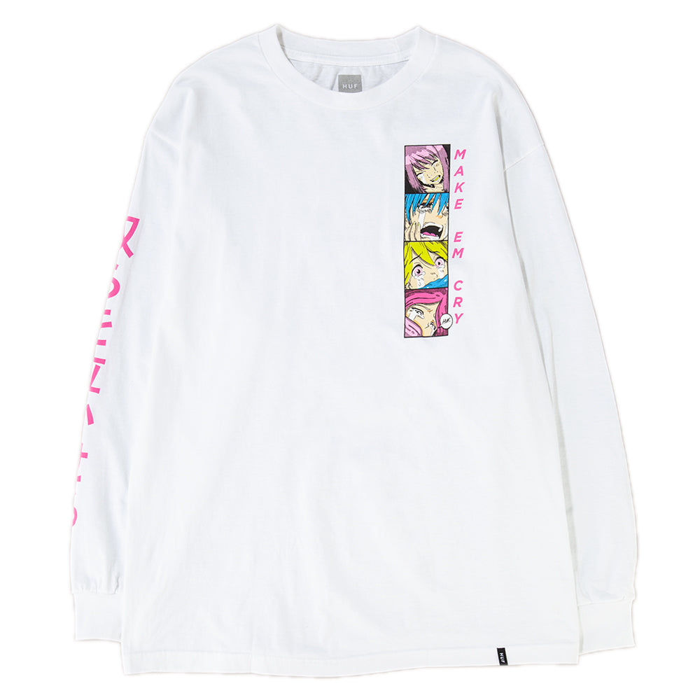 Style code HUFTS00356FA18D1WHT. HUF Make Em Cry PT 2 Long Sleeve T-shirt / White