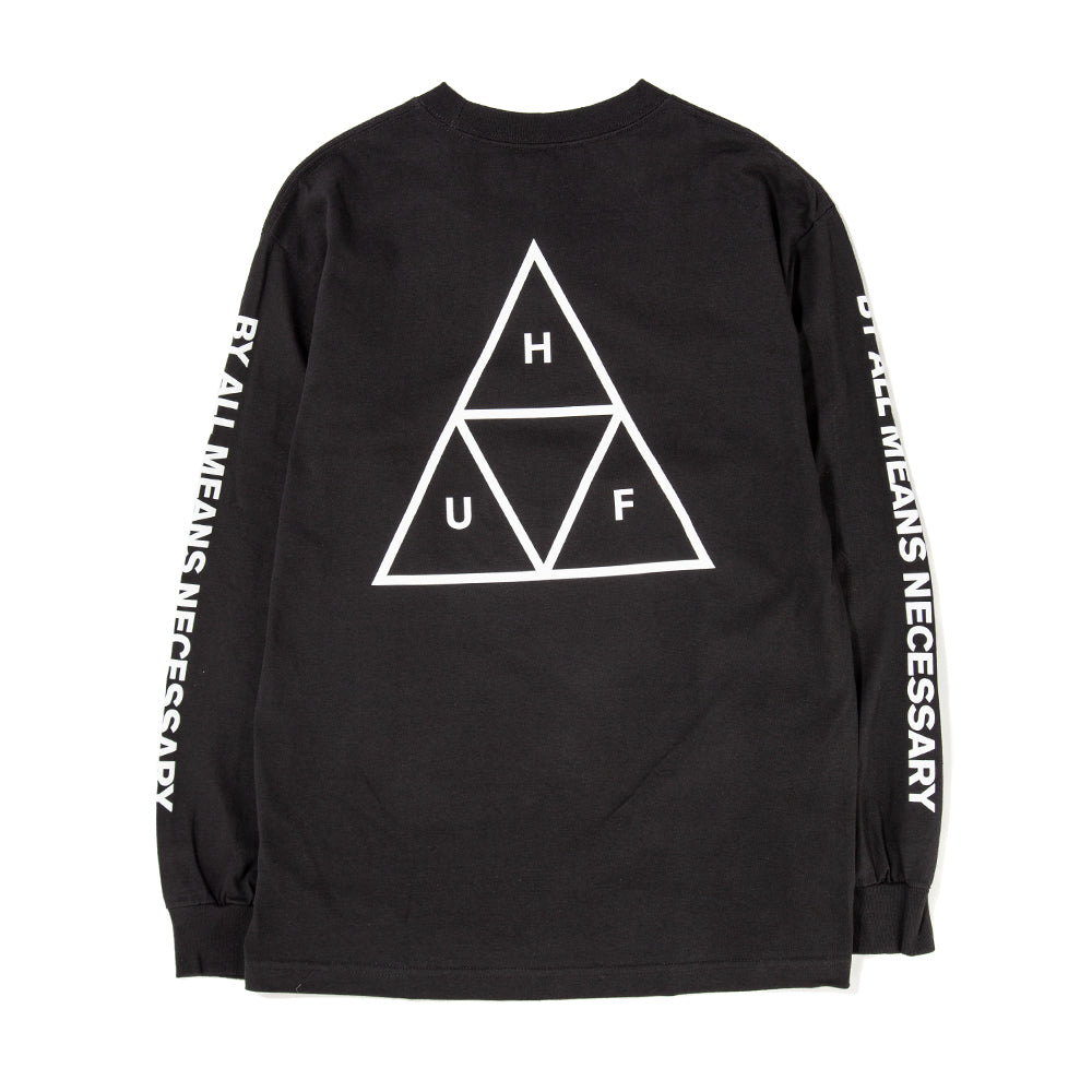 Style code HUFTS00506FA18D2BLK. HUF Triple Triangle Long Sleeve T-shirt / Black