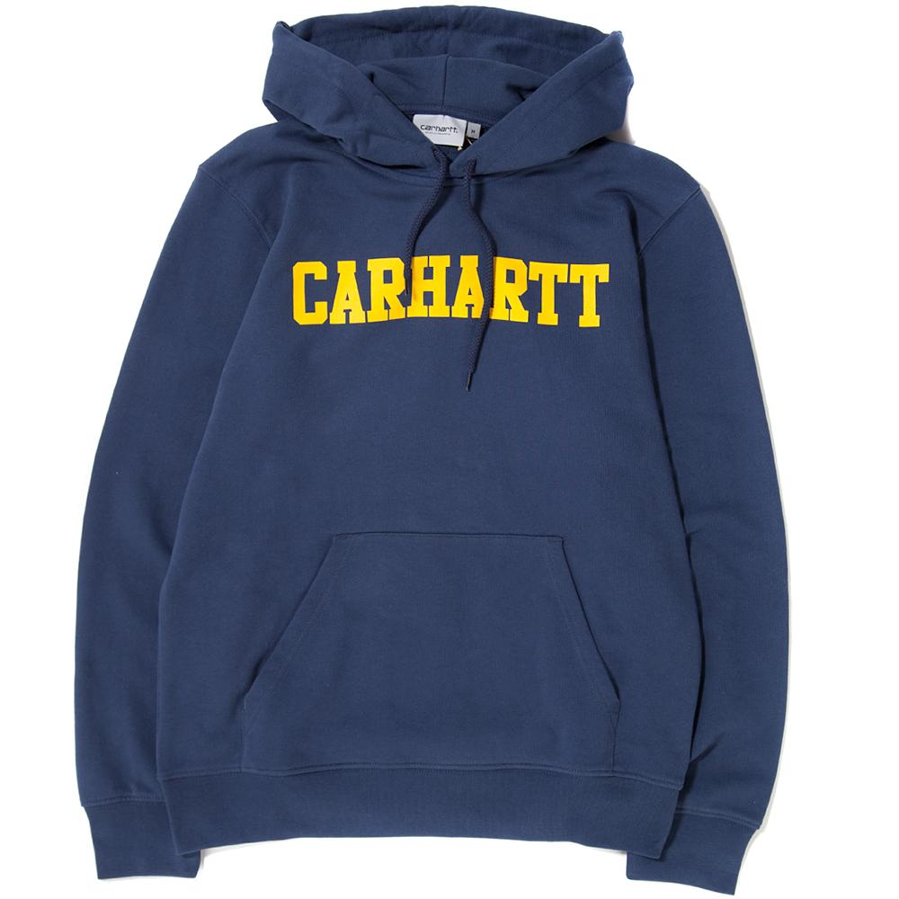 CARHARTT WIP COLLEGE PULLOVER HOODY / BLUE