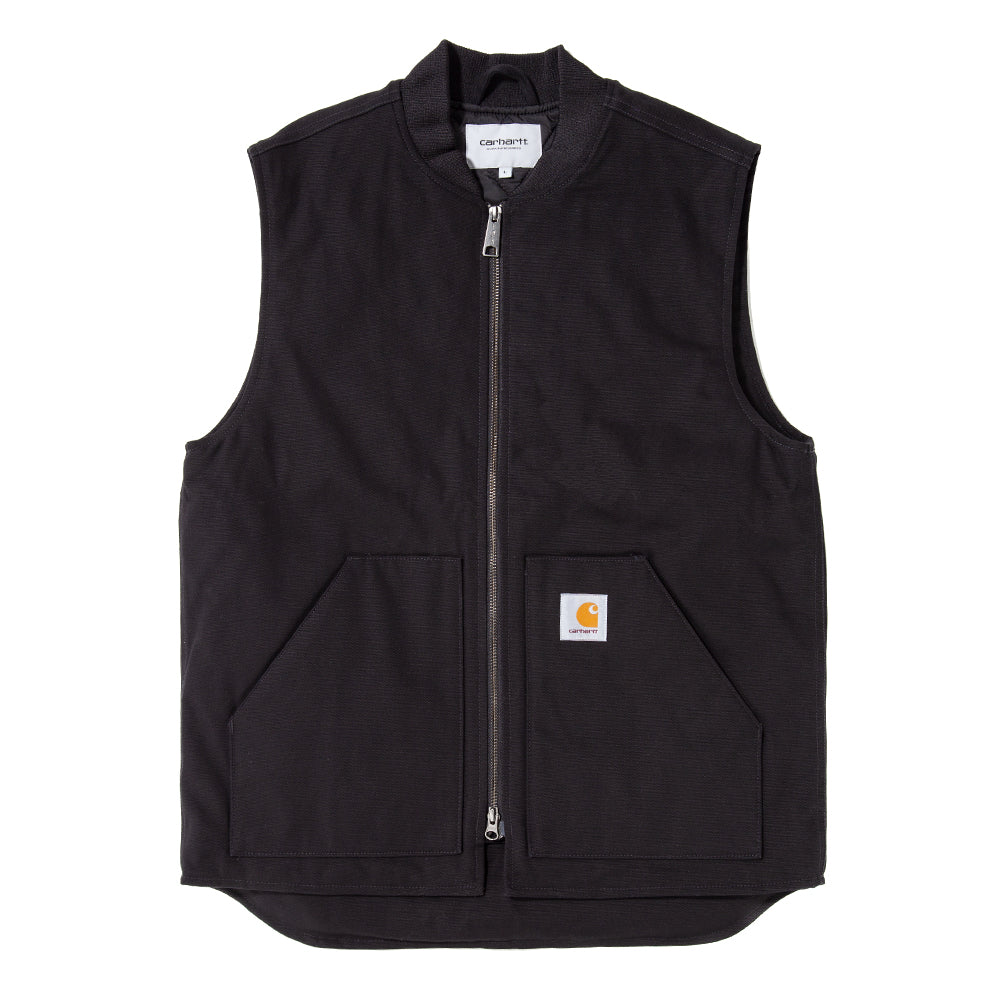 Style code I015251FW18BLK. Carhartt WIP Dearborn Canvas Vest / Black Rigid