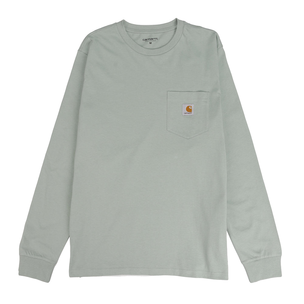 Carhartt WIP Long Sleeve Pocket T-shirt / Frosted Green