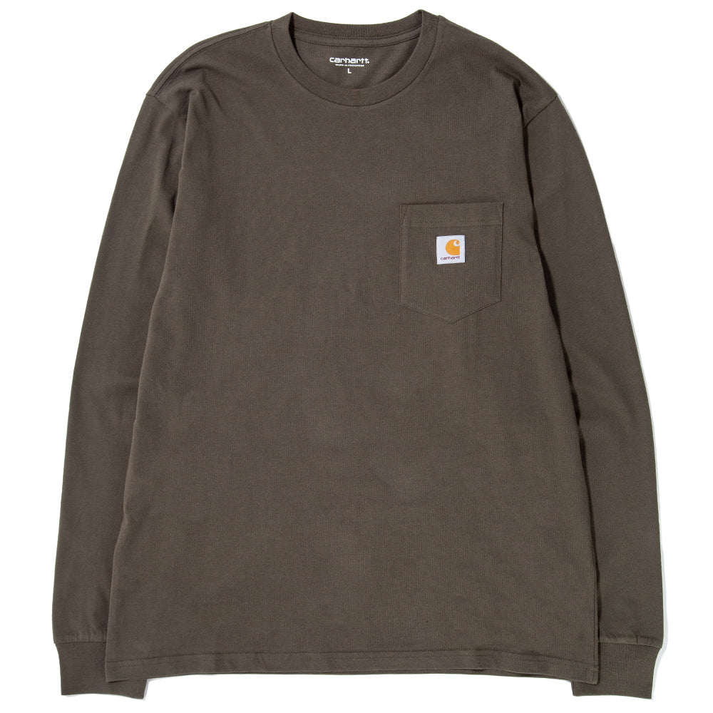 Style code I022094FW18CYP. Carhartt WIP Long Sleeve Pocket T-shirt / Cypress