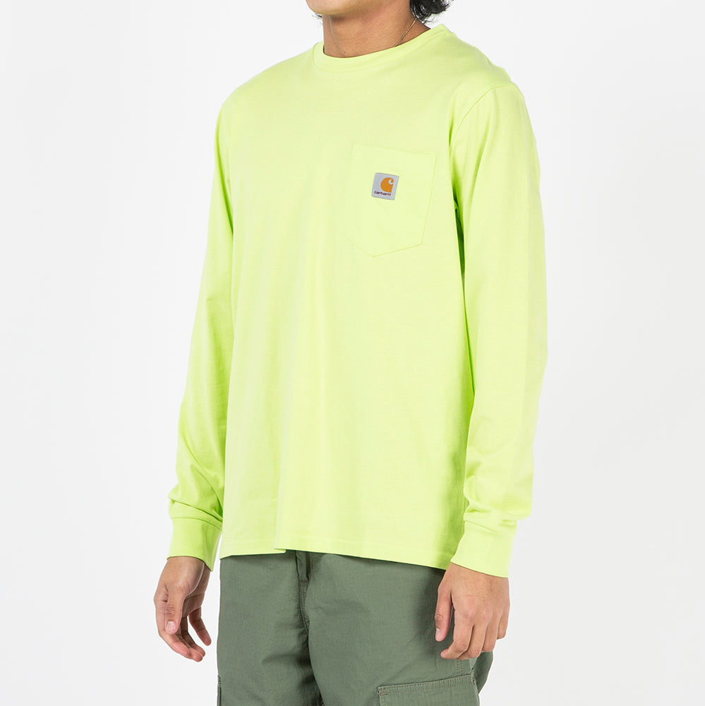 Carhartt WIP Long Sleeve Pocket T-shirt / Lime