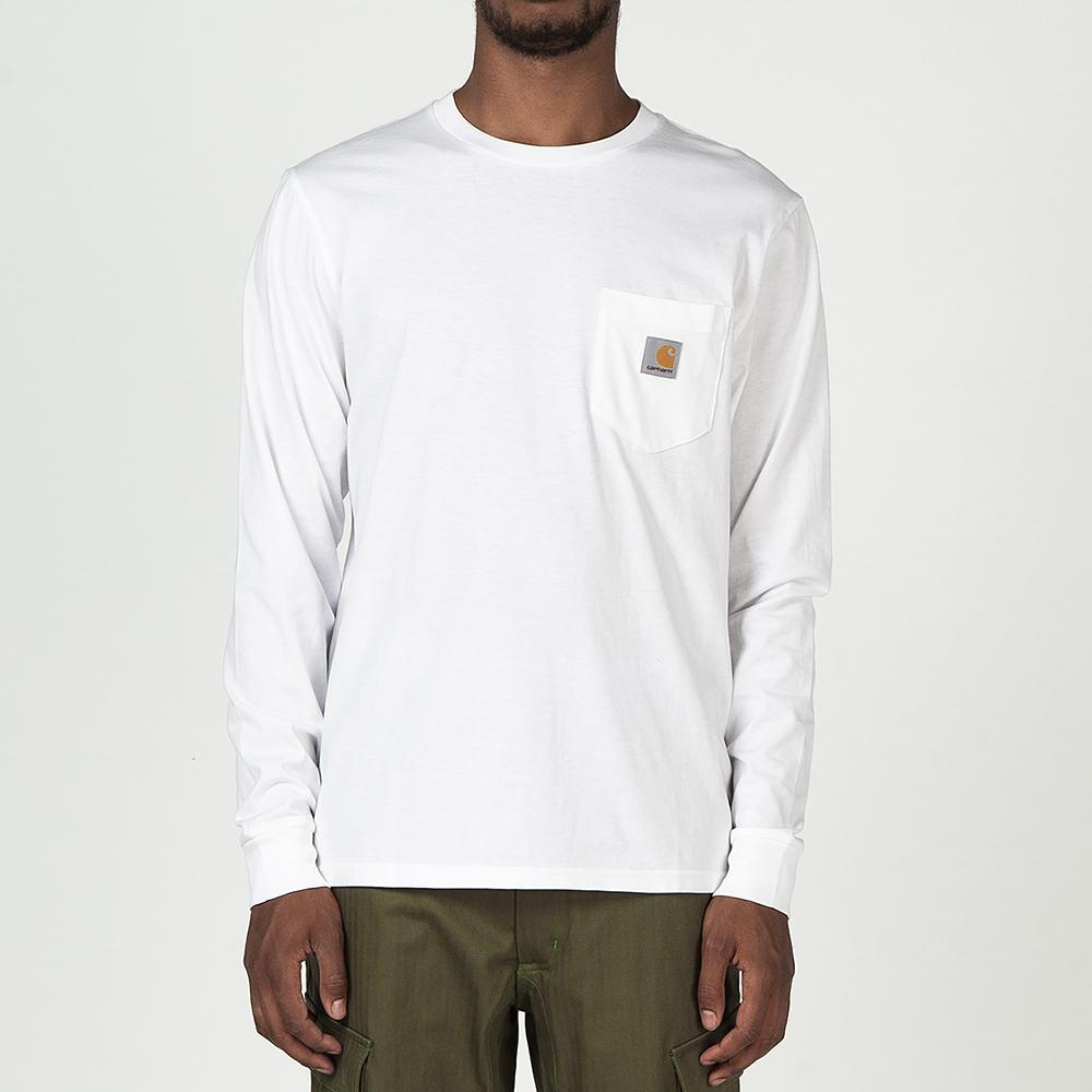 CARHARTT WIP LONG SLEEVE POCKET T-SHIRT / WHITE