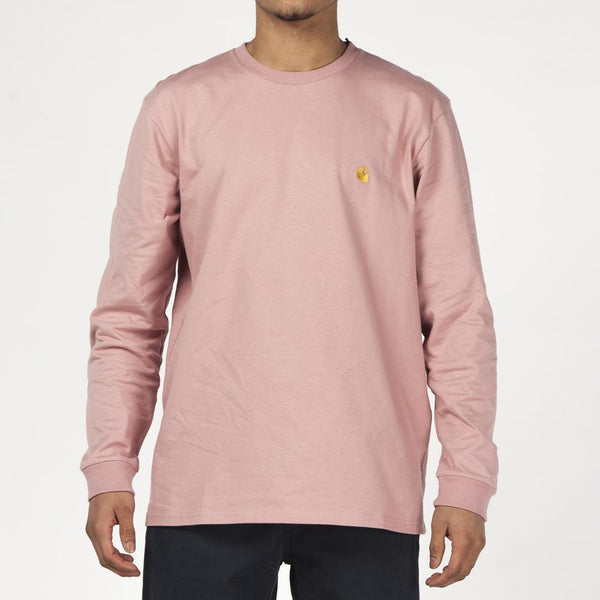 Carhartt WIP Chase Long Sleeve T-Shirt / Soft Rose