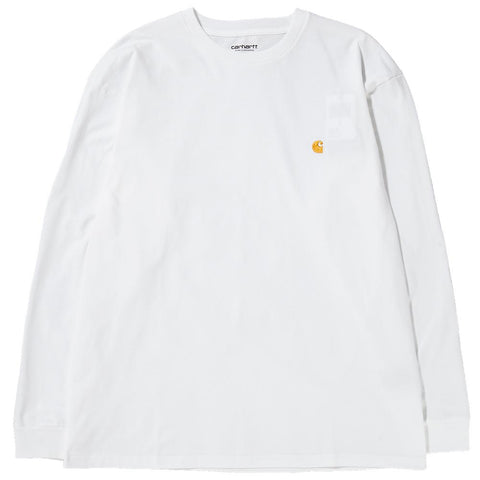 Style code I022923WHT. CARHARTT WIP CHASE LONG SLEEVE T-SHIRT / WHITE