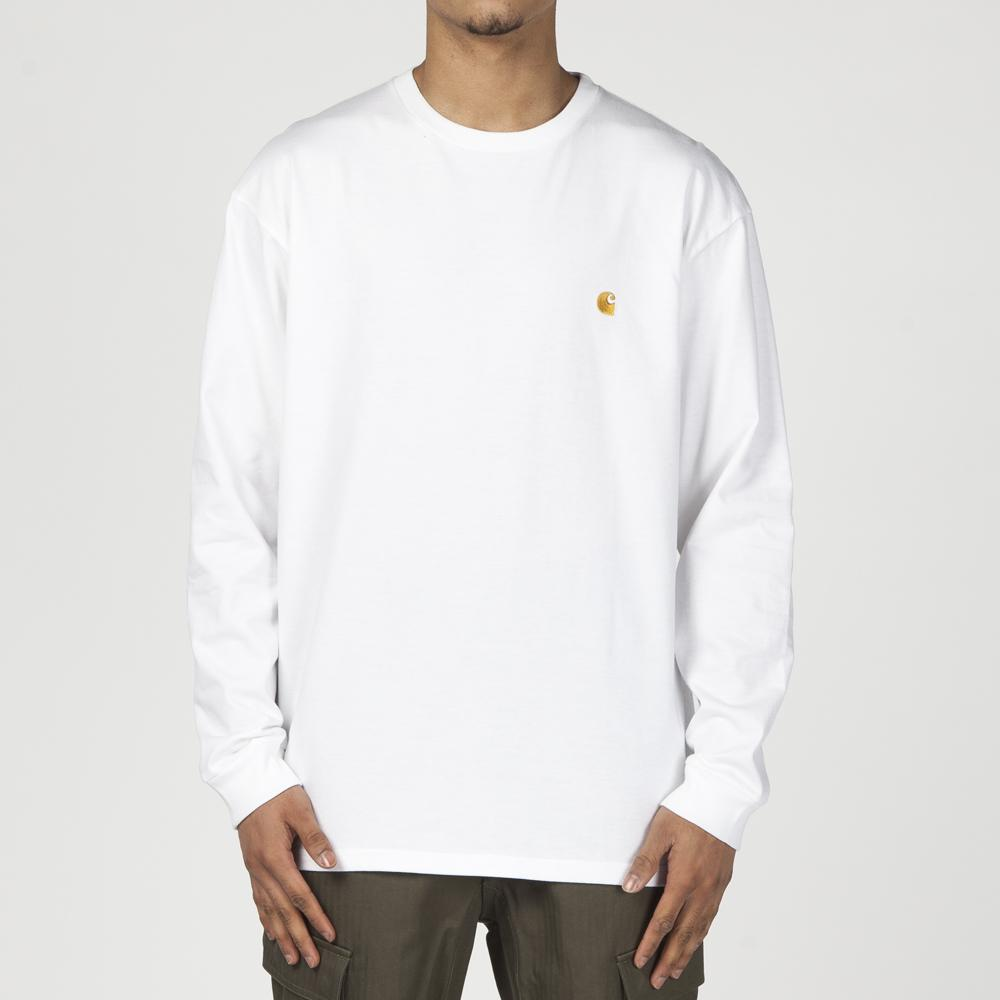 CARHARTT WIP CHASE LONG SLEEVE T-SHIRT / WHITE
