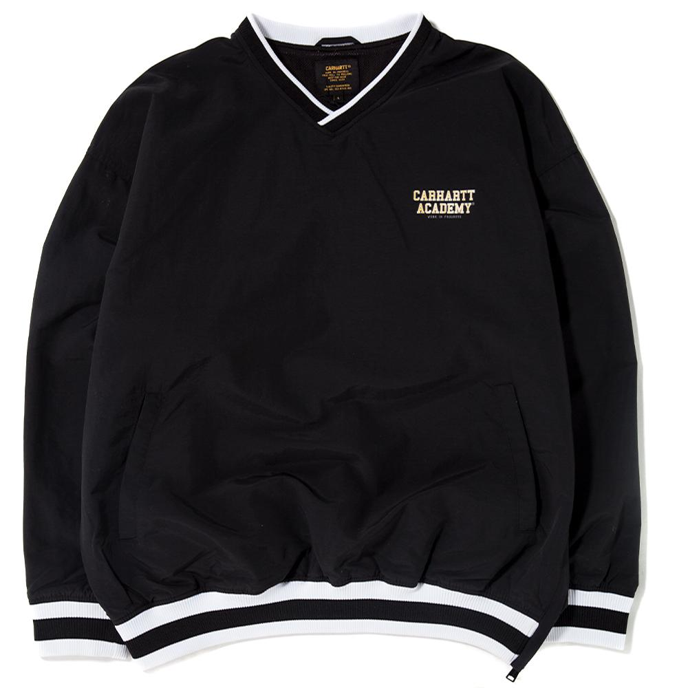 Style code I024077BLK. CARHARTT WIP ACADEMY COACH PULLOVER / BLACK