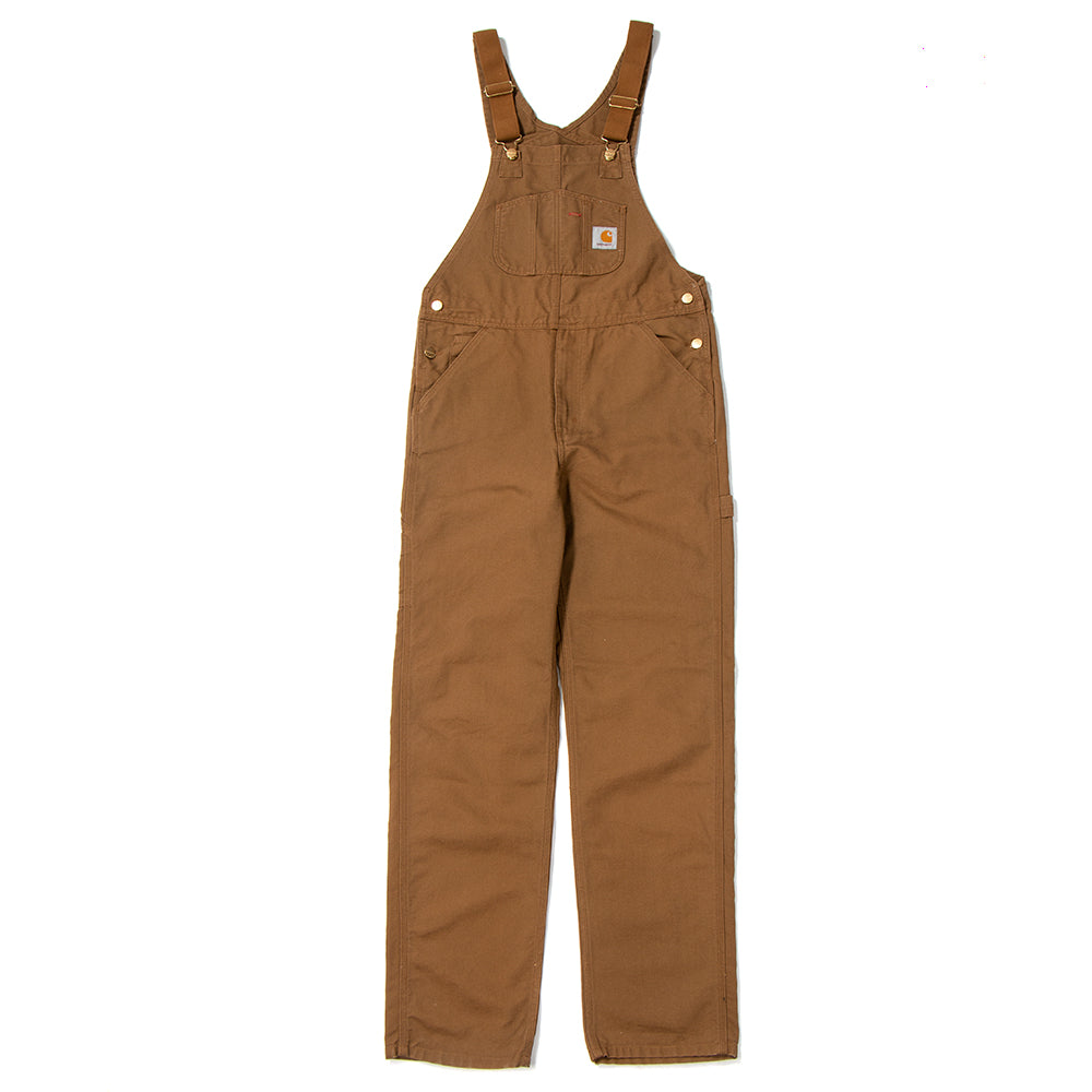 Style code I025148FW18HAM. Carhartt WIP Bib Dearborn Canvas Overall / Hamilton Brown Rinsed