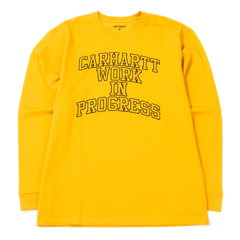 Style code I025777FW18QUI. Carhartt WIP Division Embro Long Sleeve T-shirt / Quince