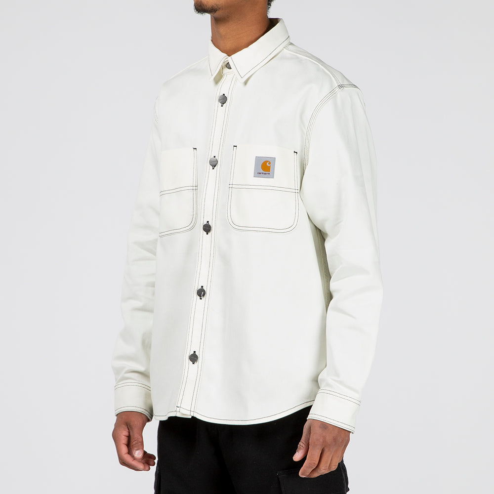 professional sale for whole family new high quality Carhartt WIP Chalk Shirt Jacket / Wax Rigid