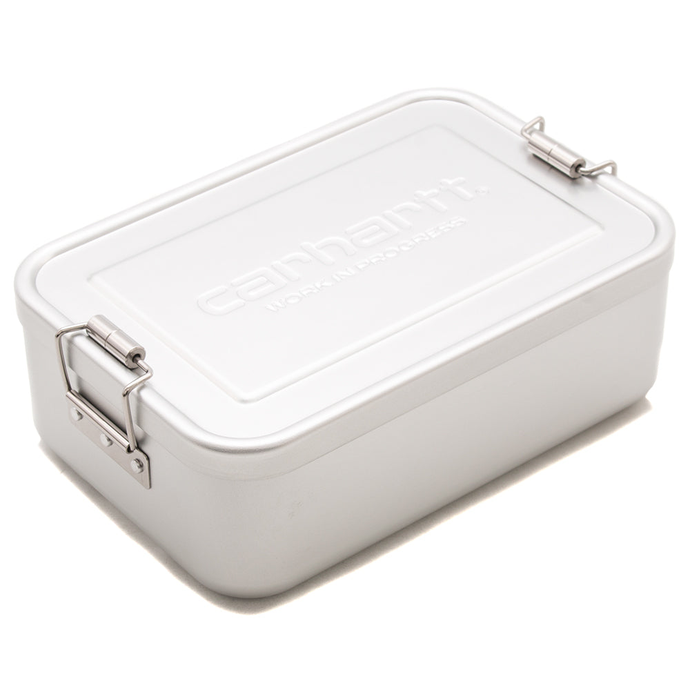 Style code I026075FW18. Carhartt WIP Aluminum Lunch Box / Silver