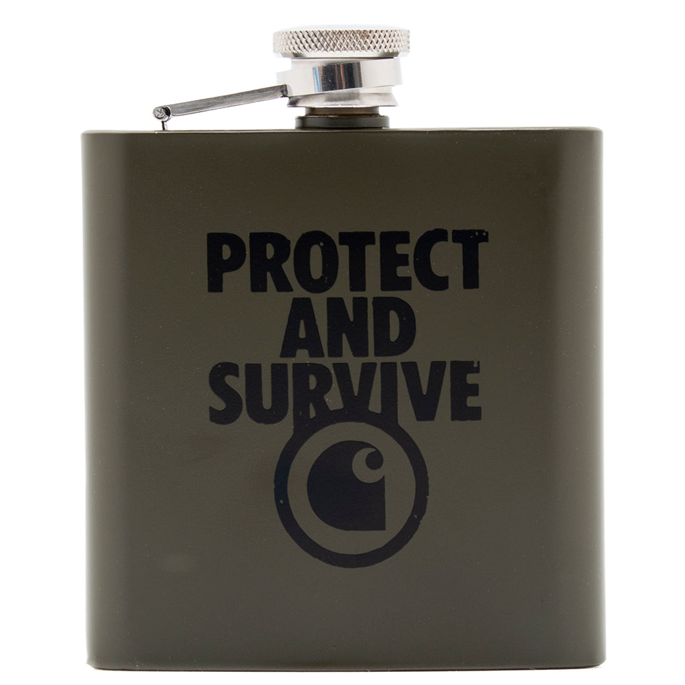 Carhartt WIP Protect & Survive Whiskey Flask / Cypress