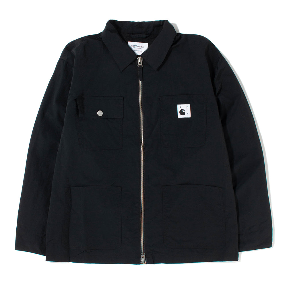 Pop Trading Company x Carhartt WIP Michigan Chore Coat / Black - Deadstock.ca