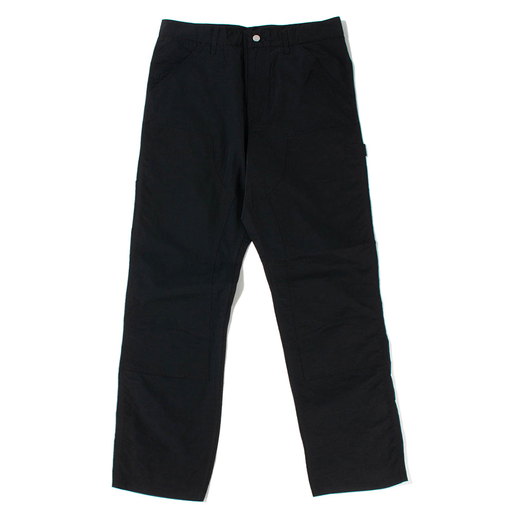 Pop Trading Company x Carhartt WIP Double Knee Pant / Black - Deadstock.ca