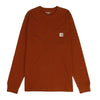 Carhartt WIP Long Sleeve Pocket T-shirt / Brandy