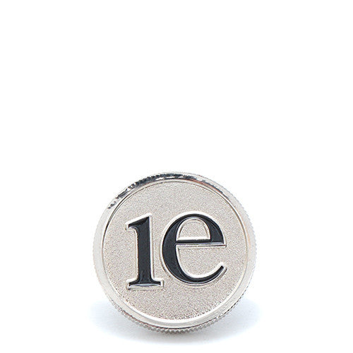 {ie DIME PIECE PIN / SILVER - 1