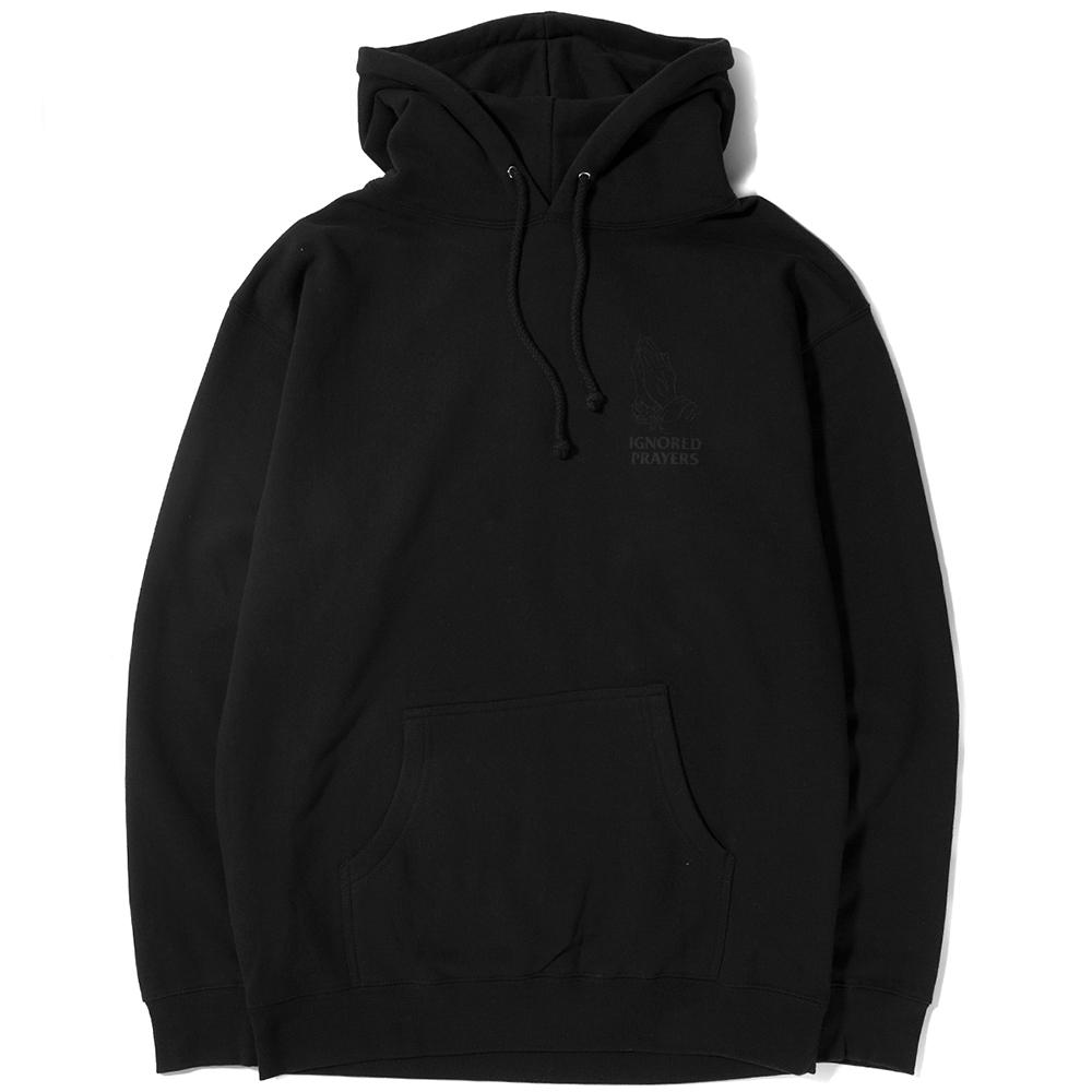 style code IPF0003. IGNORED PRAYERS OG HANDS REFLECTIVE PULLOVER HOODIE / BLACK