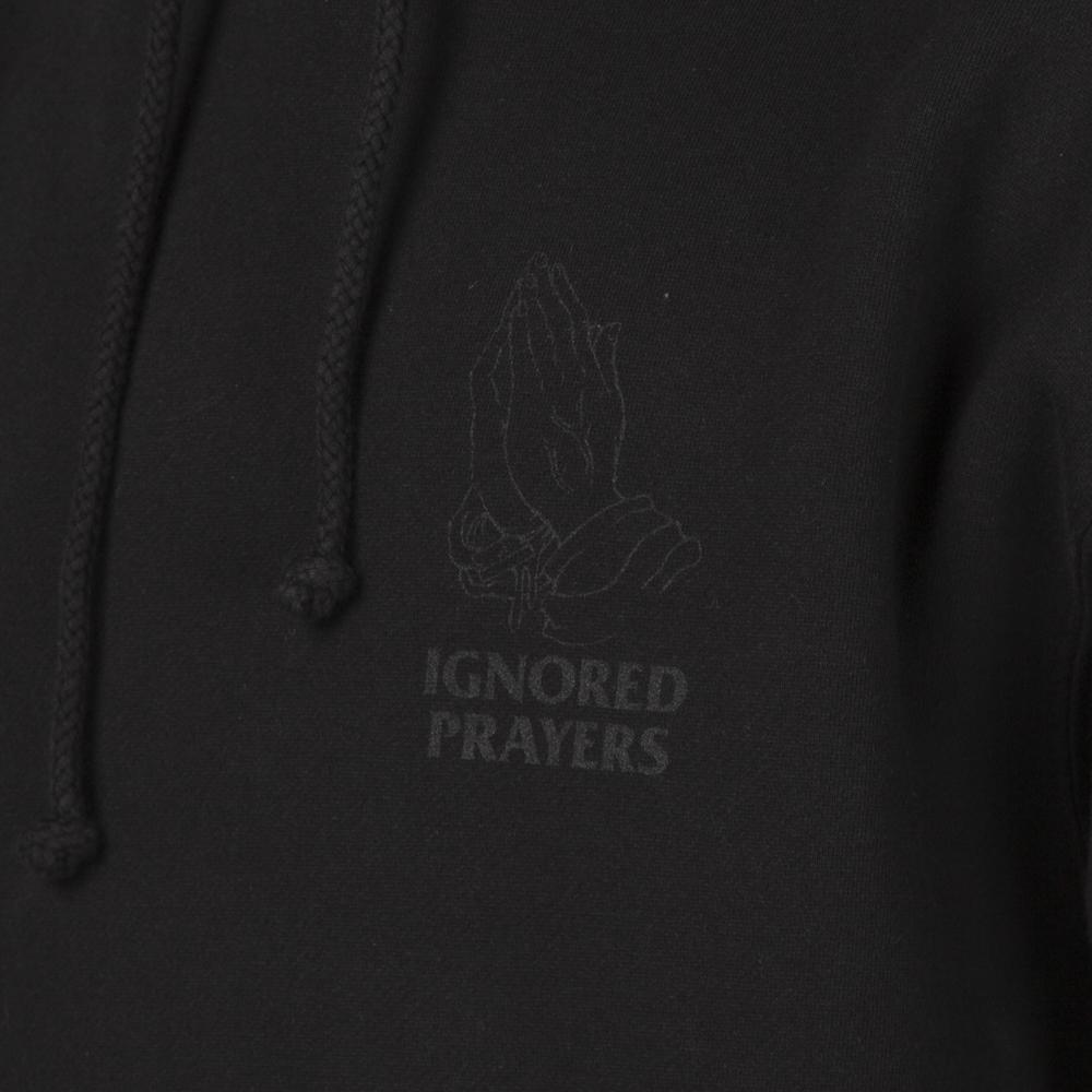 IGNORED PRAYERS OG HANDS REFLECTIVE PULLOVER HOODIE / BLACK