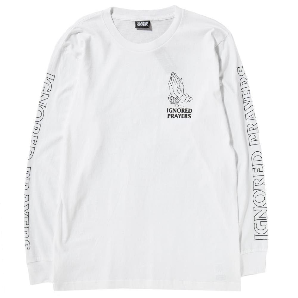 Style code IPT0017WHT. IGNORED PRAYERS OG HANDS LONG SLEEVE T-SHIRT / WHITE