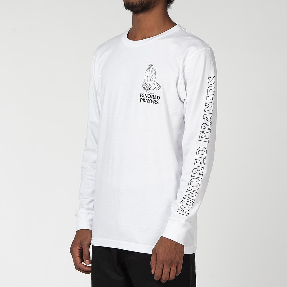 IGNORED PRAYERS OG HANDS LONG SLEEVE T-SHIRT / WHITE