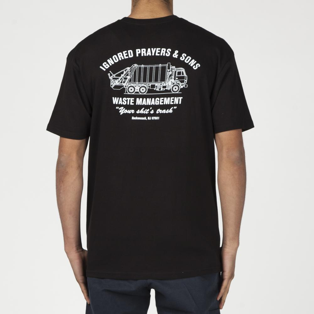 IGNORED PRAYERS TRASH T-SHIRT / BLACK