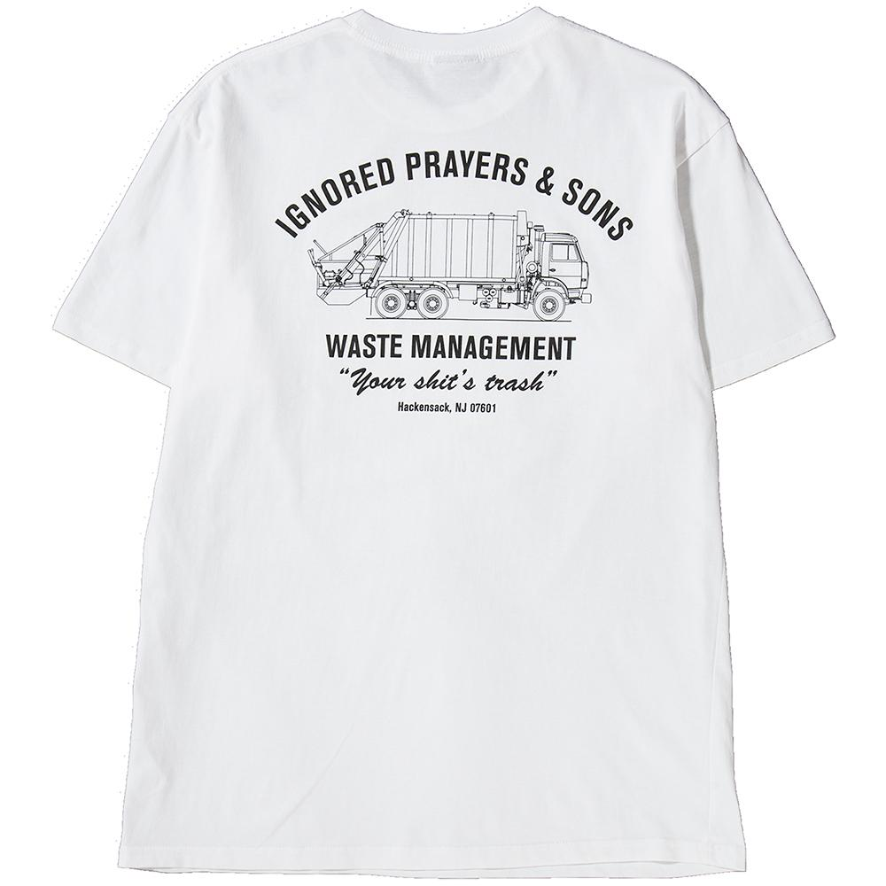 style code IPT0018WHT. IGNORED PRAYERS TRASH T-SHIRT / WHITE