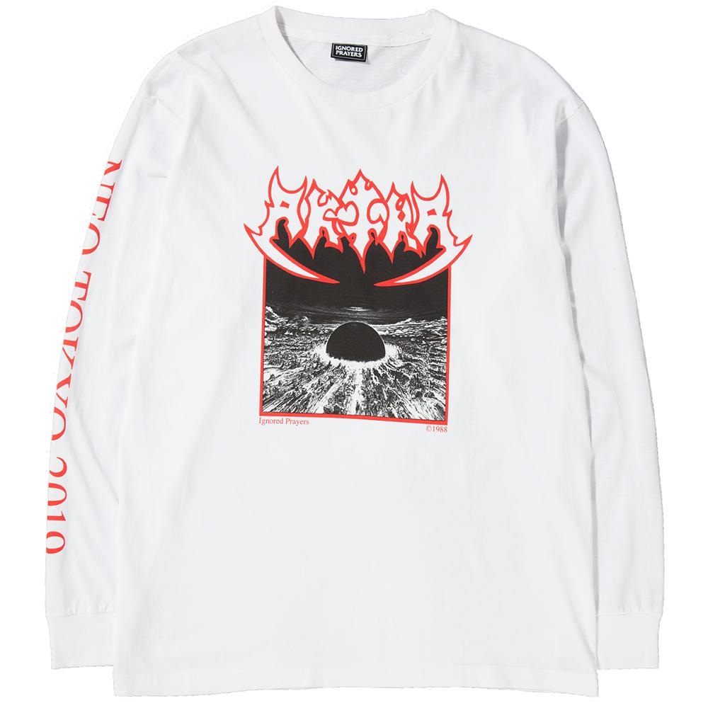 Style Code IPT0023. IGNORED PRAYERS SEPULKIRA LONG SLEEVE T-SHIRT / WHITE
