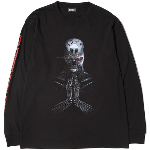 style code IPT0024. IGNORED PRAYERS JUDGMENT LONG SLEEVE T-SHIRT / BLACK