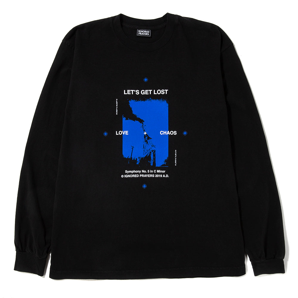 Ignored Prayers Lets Get Lost Long Sleeve T-shirt / Black