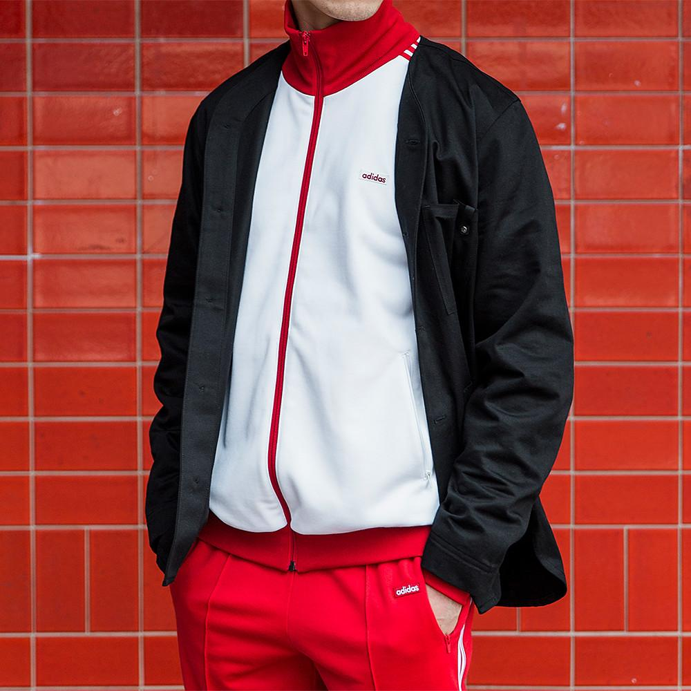 ADIDAS CONSORTIUM MADE IN GERMANY BECKENBAUER TRACKSUIT / WHITE