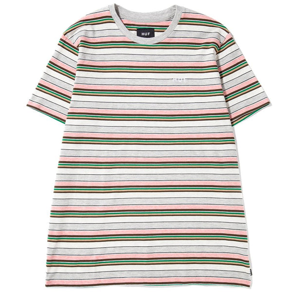 HUF Off Shore Stripe T-Shirt / Pink