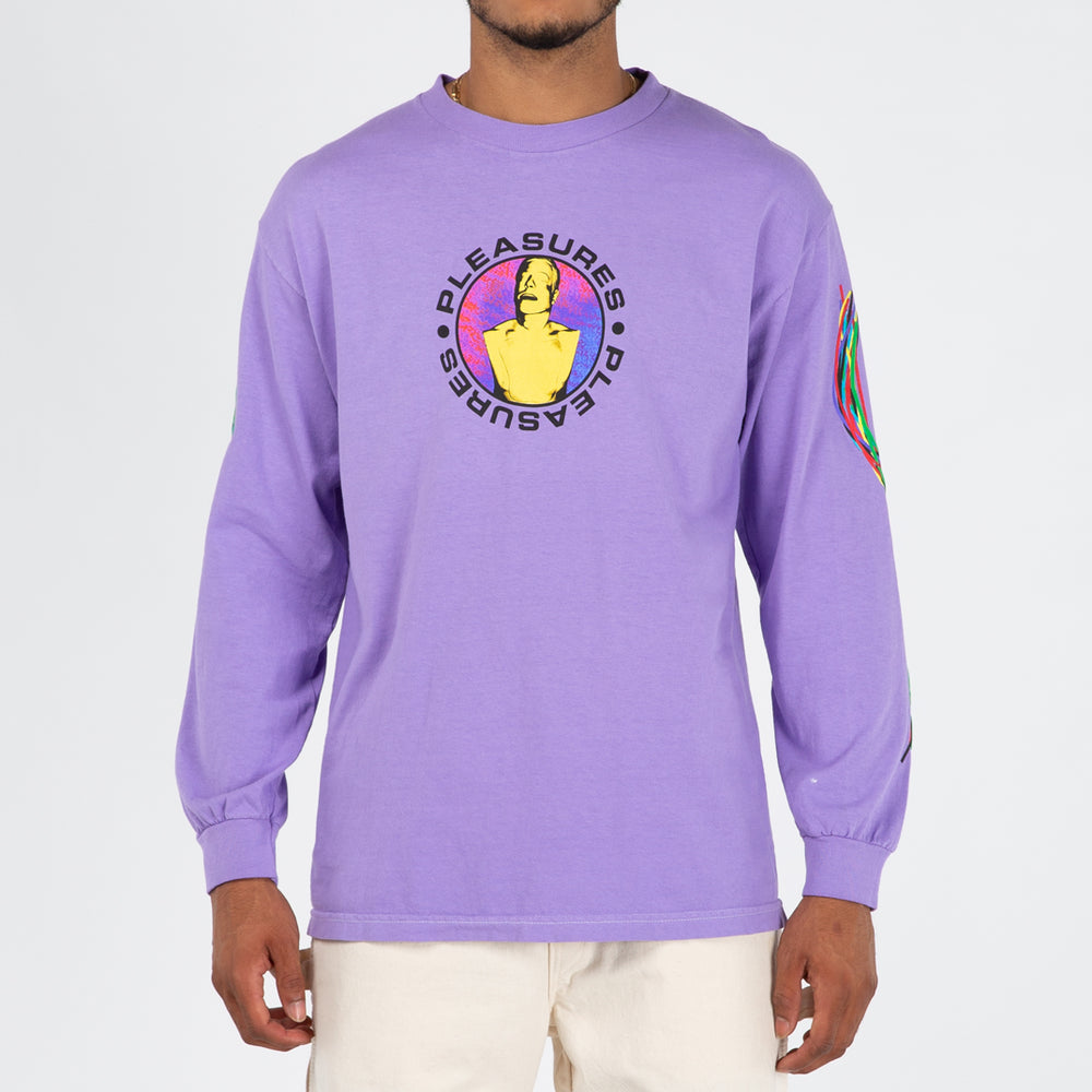Pleasures x Taikan Long Sleeve T-shirt / Violet - Deadstock.ca