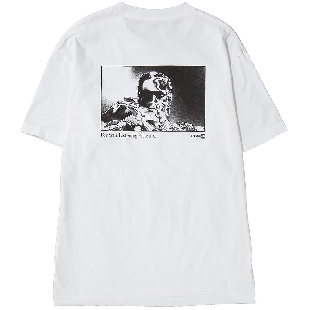 Style code LSH1704WHT. LIVESTOCK LISTENING PLEASURE T-SHIRT / WHITE