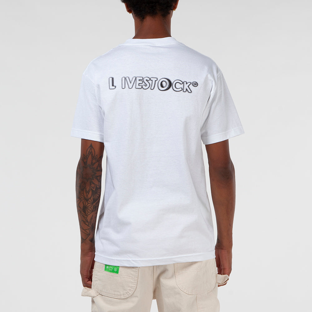Livestock Clear Vision T-shirt / White - Deadstock.ca