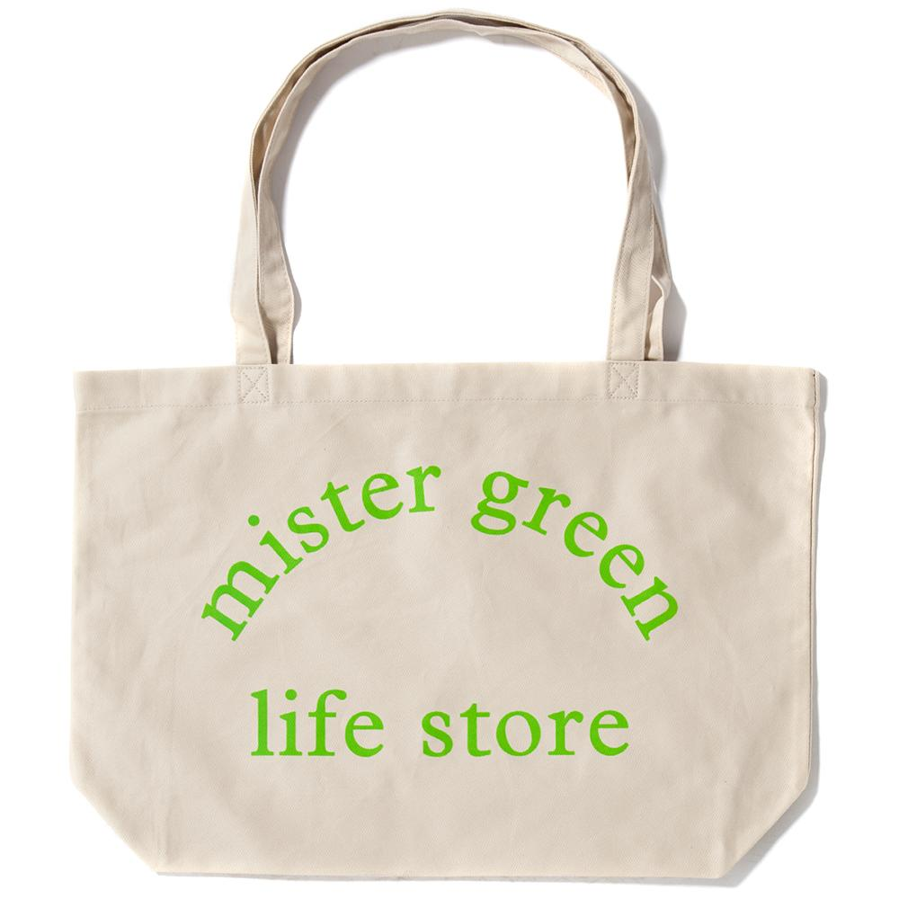 Style code MG0313. MISTER GREEN LIFE STORE EXTRA LARGE TOTE / NATURAL