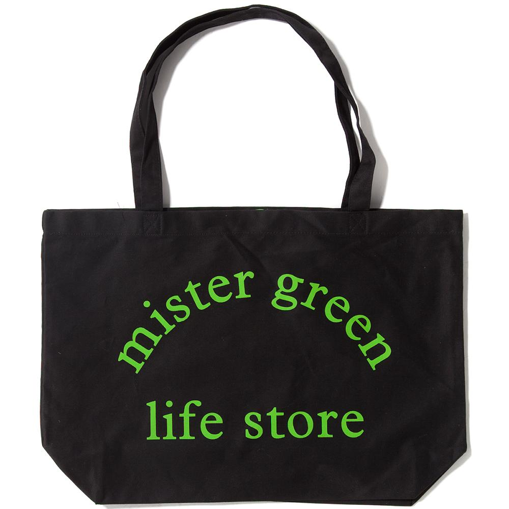 Style code MG0314. MISTER GREEN LIFE STORE EXTRA LARGE TOTE / BLACK