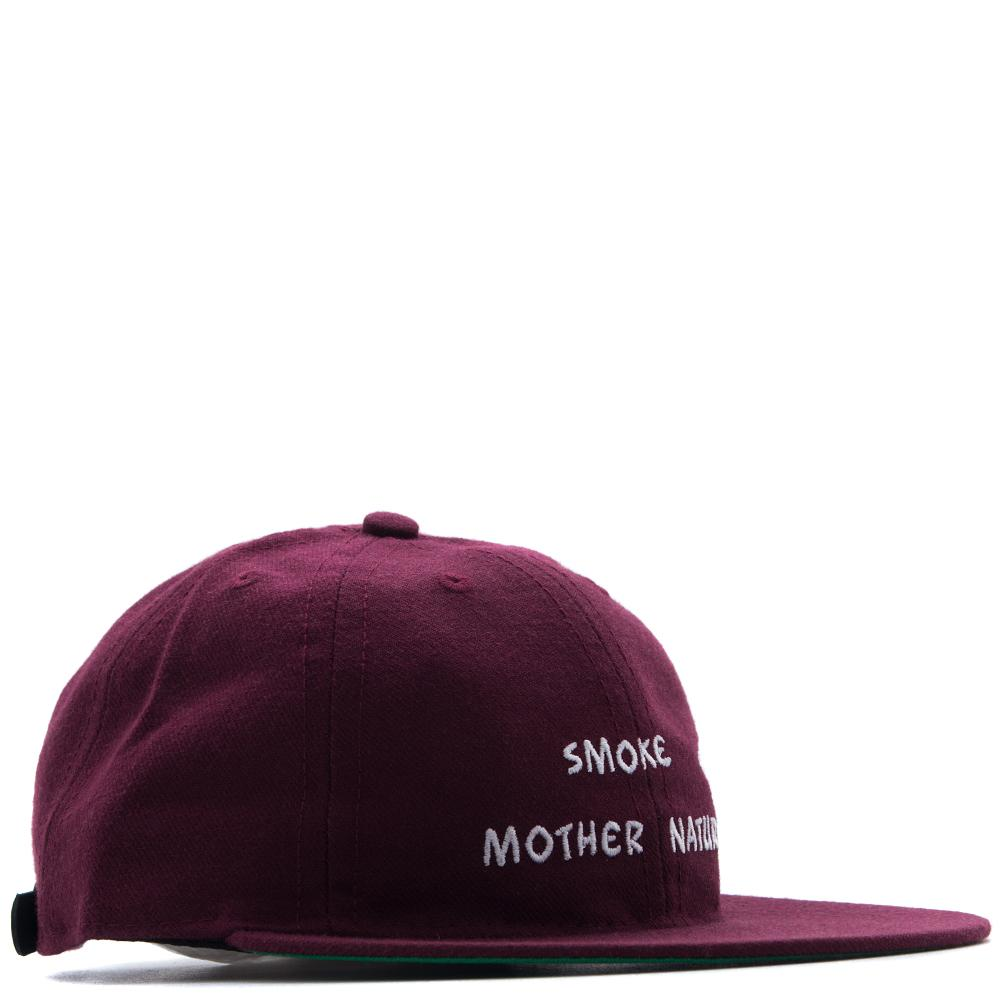 Style code MG0324 . MISTER GREEN SMOKE MOTHER NATURE CAP / MAROON