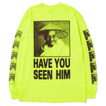Mister Green x Black Weirdos Ganziiz Long Sleeve T-shirt / Yellow - Deadstock.ca