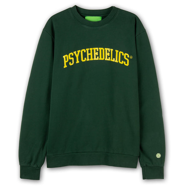 Mister Green Psychedelics Pro Crewneck / Forest