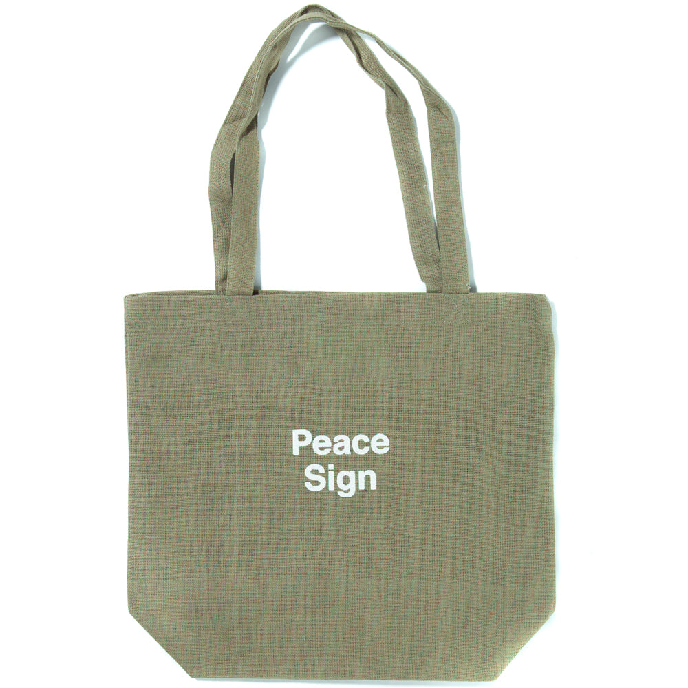 Style code MGD404. Mister Green x Cody Hudson Peace Sign Life Store Tote / Faded Army