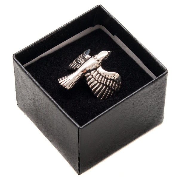 Style code MPLFW1811. Maple Eagle Ring / Silver