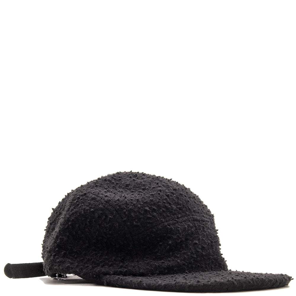 Style code MPLFW1830. Maple Casentino Wool Trail Cap / Black