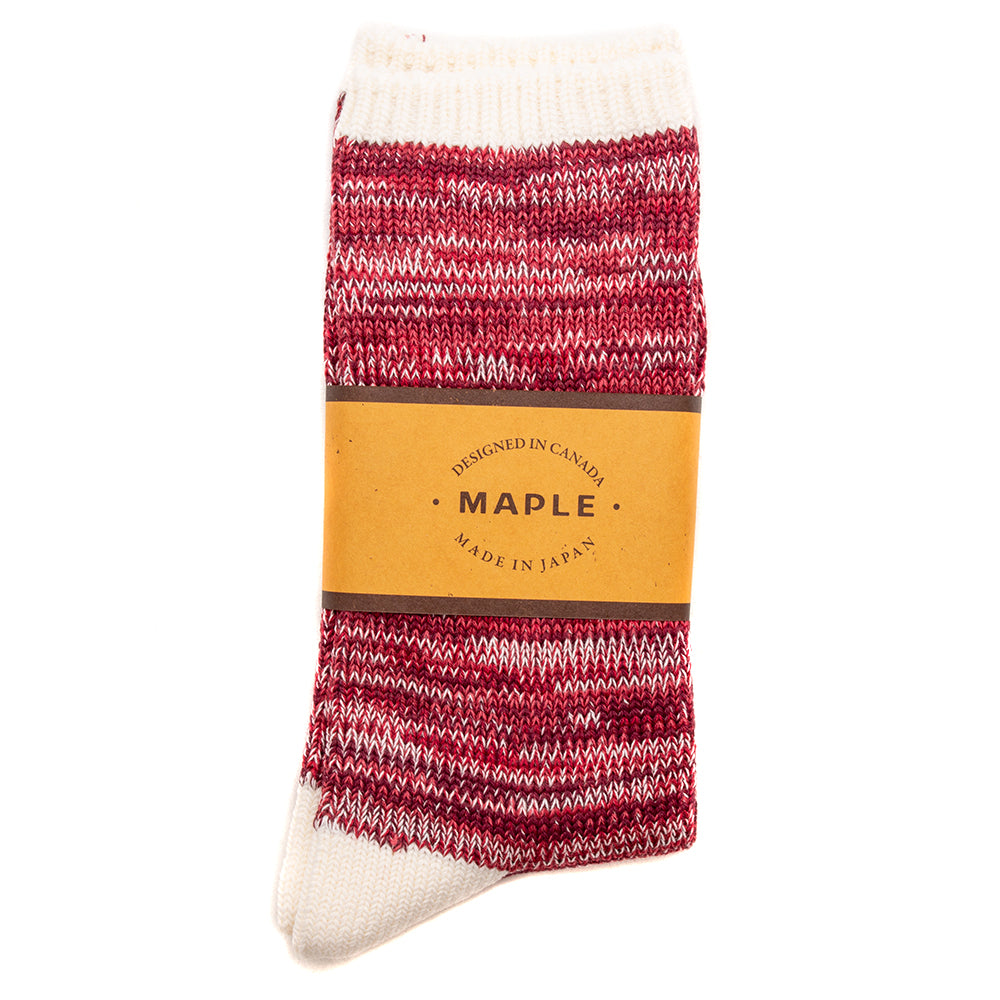 Style code MPLFW1849RED. MAPLE Hikisoroe Socks / Red