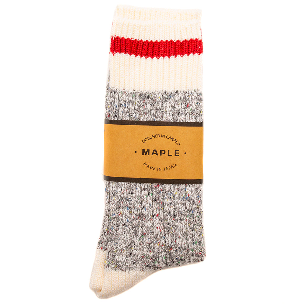 Style code MPLFW1850GRY. MAPLE Heritage Socks / Grey