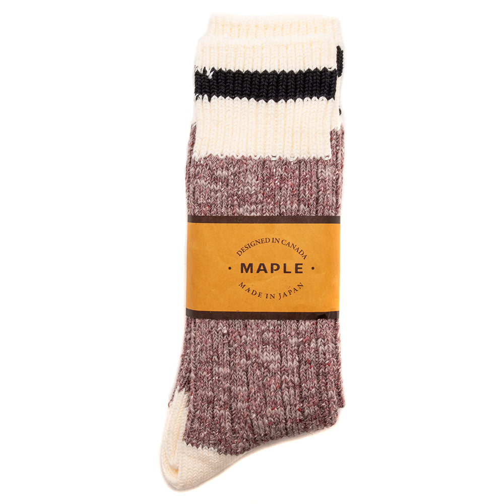 Style code MPLFW1850WIN. MAPLE Heritage Socks / Wine