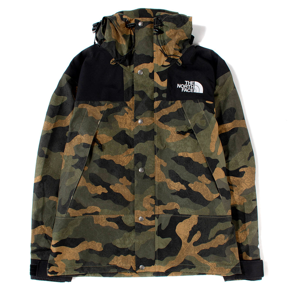 The North Face 1990 Mountain Jacket GTX II / Burnt Olive Green Waxed Camo - Deadstock.ca