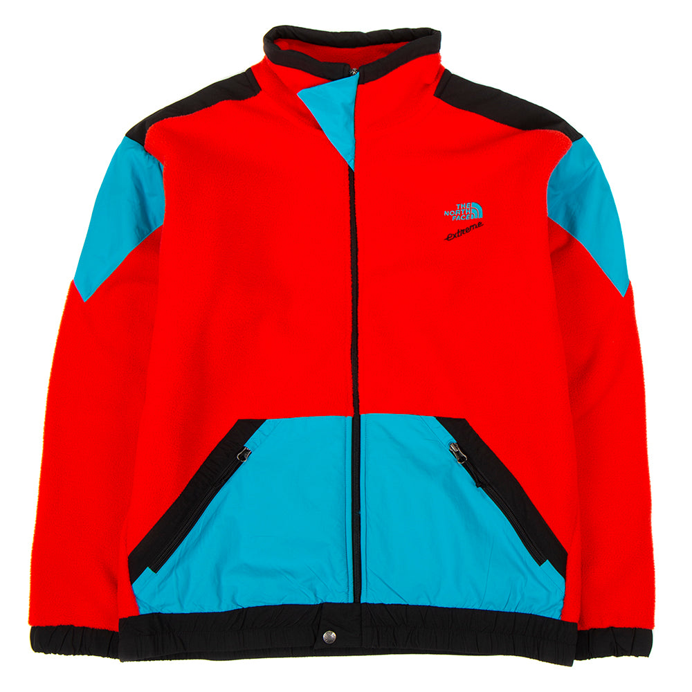 The North Face 90 Extreme Fleece Full Zip Jacket / Fiery Red Combo
