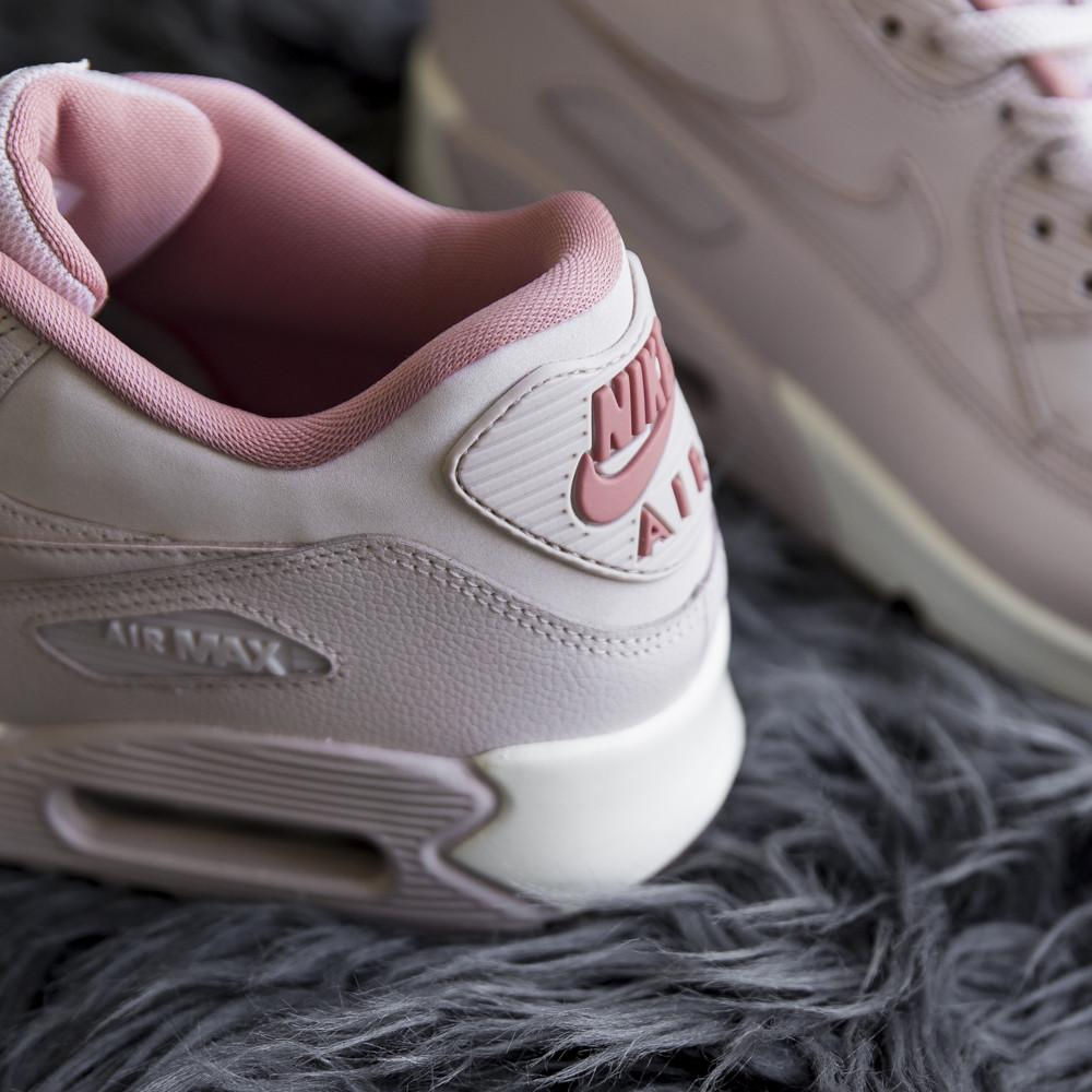 style code 921304-600. NIKE WOMEN'S AIR MAX 90 LEATHER / SILT RED