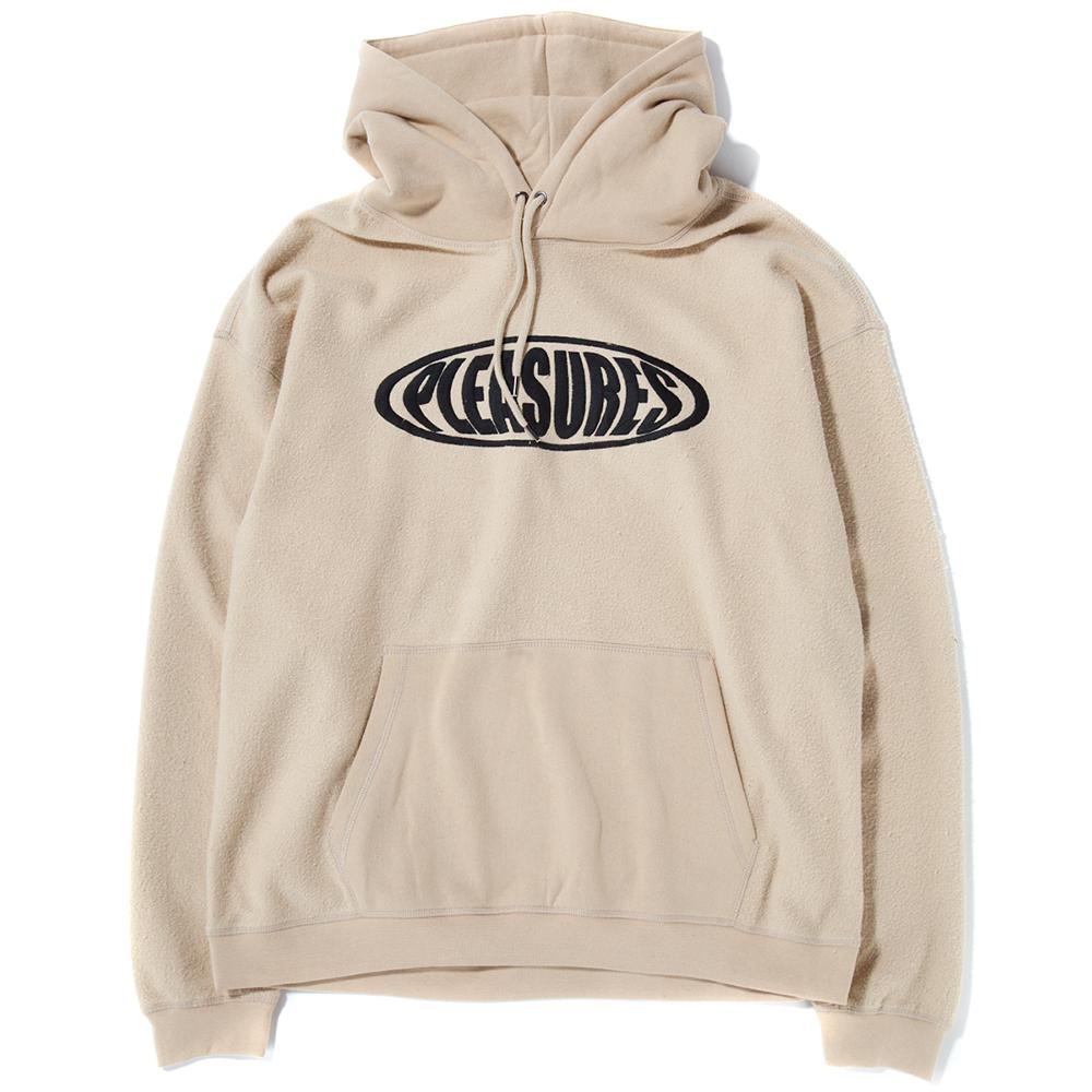 Style code P17W102003. Pleasures Bubble Reverse Pullover Hoodie / Tan